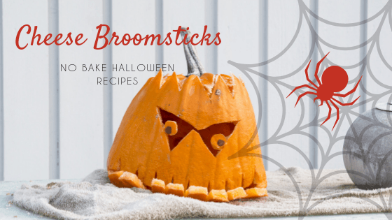 No Bake Halloween Recipe - Cheese Broomsticks